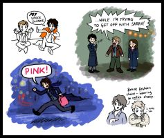 Sherlock doodles by blackbirdrose