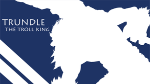 Trundle Silhouette - Dark Blue - White - 1980x1080 by urban287