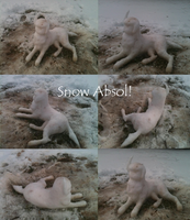 I made a snow Absol! by Demonshark151