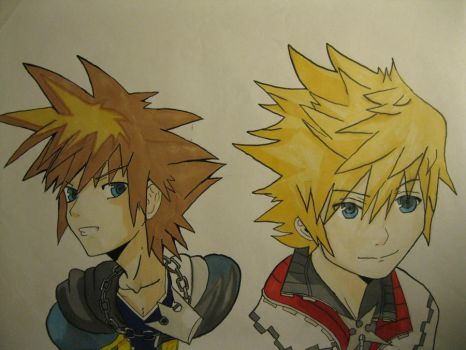 Roxas and Sora: Another Me by ChirucupcakeChan