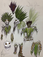 Work Doodles - Witch Doctor Armor by TehSasquatch