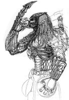 Predator Scratching His Mask by ButtZilla