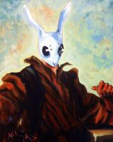 Portrait of a Rabbit Man by HillaryWhiteRabbit