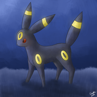 Umbreon Paint by ieaka
