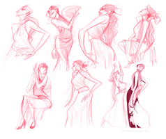 Flamenco Dancer Sketches by joeymasonart