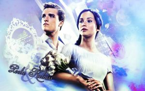 Peeta and Katniss by JacobBlacksPrincess