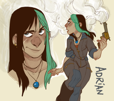 ADRIAN DOODLES by AgentDax