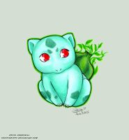 Little Bulbasaur by TrippinDippy