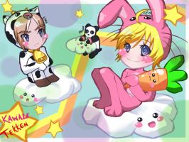 Kawaii Tekken (Leo, Lars, and Panda) by xiCottonCandix