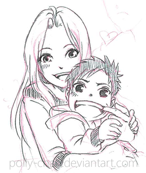 Sakura with child by polly-chan