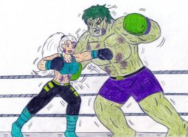 Boxing Mala vs Hulk by Jose-Ramiro