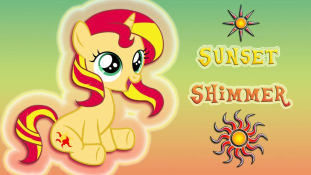 Wallpaper Filly Sunset Shimmer by Barrfind
