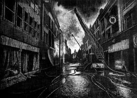 Bombed City by AAlexandrin