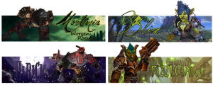 Goblin and Worgen Sig Examples by xAzriphalex