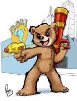 This armed bear by pandapaco