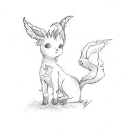 Leafeon sketch by bandotaku