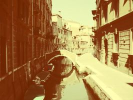 venice backstreet in contrast by kyleblackwood