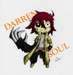 Chibi Darren colored sketch by BazookaSoulKeeper