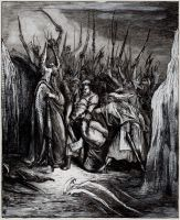 Germanic Mythology - The capture of Loki by masiani