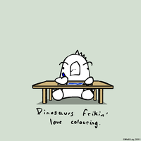 Dinosaur Facts - Colouring by DeathByStraws