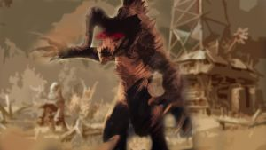 Deathclaw madness by Someonecalledmgee