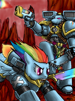 Assault Marine Rainbow Dash by Bloodkiaser923