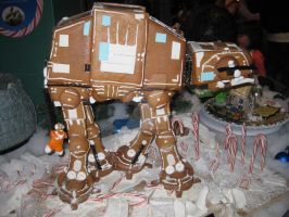 Star Wars - Gingerbread At-At Walker by ShipperTrish