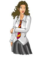 7th Year Hermione by c-t-supahfly