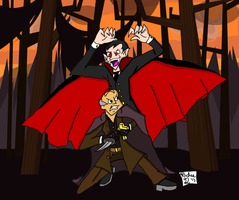 Art Trade - Louis Vs Dracula by Retro7
