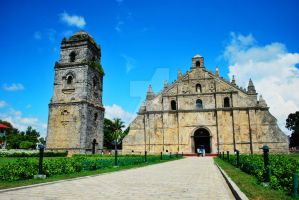 Paoay Church (front) by AngelAngeles