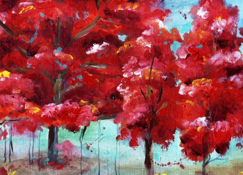 little red trees by sythesite