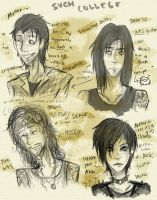That College Band sketches by KorpseBride