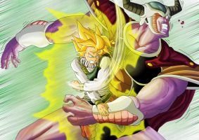 DBM Goku vs Cold by Leackim7891