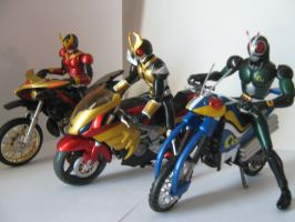 SH figuarts Bike Race Line up by Deadman0087