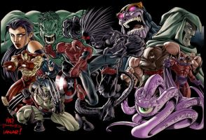 Marvel Superheroes by iANAR