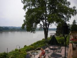 Dining by Ohio River by Huop
