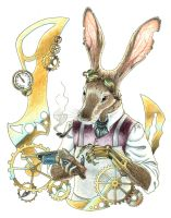 Steampunk Jackrabbit by Reymonkey