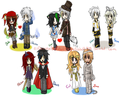::collab art:: hallowen chibi pack(?) by bachadark93