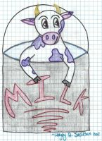 Cow In A Milk Bucket by Mudfire4