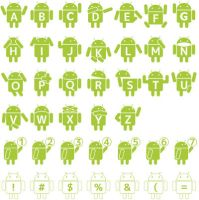 Droid Robot Font by mikan120