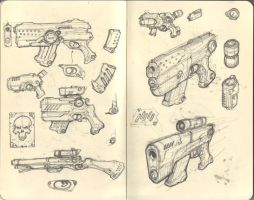 sketches_guns by marcnail