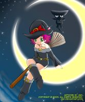 A Witch Sitting on the Moon by J8d