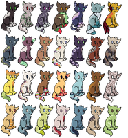 Cat Adoptables [OPEN] by redroseadopts
