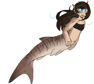 ah yes the ferocious sharkmaid by sharkfreckles