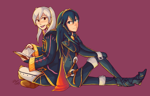Collab: Robin and Lucina by firehorse6