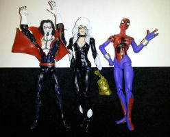 Morbius, Black Cat and Spider-girl Custom Figures by ayelid