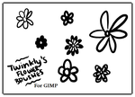 GIMP Flower Brushes by MsPastel