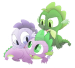 Pearl, Spike, and Smokey by FaithFirefly