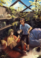 ywpd: peaceful afternoons by Sangcoon