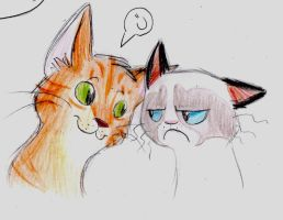 Lloyd and the grumpy cat by Butterfly229